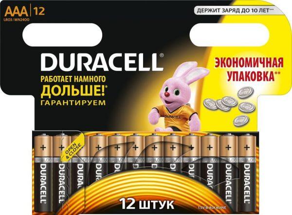 DURACELL AAA 12 шт